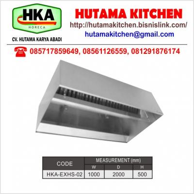 HUTAMA KITCHEN MENJUAL EXHAUST HOOD TYPE ISLAND BODY STAINLESS STEEL